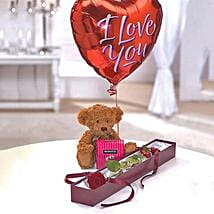 Perfection Luxury Gift Set: Flowers with Chocolates to UK