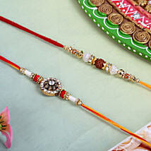 Permium Rudraksh Rakhi Set: Rakhi for Brother - UK