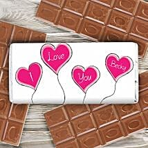 Personalized Heart Balloons Milk Chocolate: