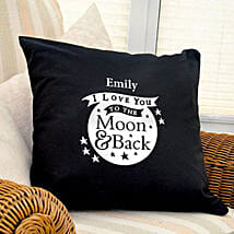 Personalized Love Dovey Cushion Coverblack: Send Gifts to Nottingham