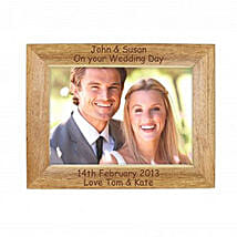 Personalized Walnut Wood Photo Frame: Birthday Gifts Delivery in UK