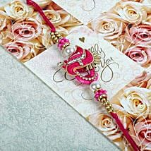 Pink Zardosi Bracelet: Send Rakhi for Brother in Uk