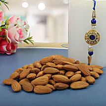 Royal Rajwadi Blue diamond with almond: Send Rakhi to Glasgow