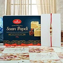 Rudraksh Diamond with Soan Papdi: Rakhi to Glasgow