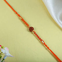Rudraksh with orange Thread: Rakhi for Brother - UK