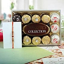 Sandalwood Ferrero Rocher Rakhi Hamper: Rakhi for Brother - UK