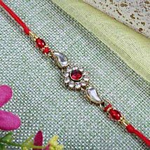 Sparkling Red Diamond bracelet: Send Rakhi to Glasgow