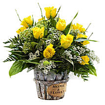 Sunshine Radiance: Get Well Soon Flowers to UK