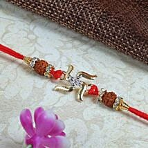 Swastik with Rduraksh Rakhi: Send Rakhi for Brother in Uk