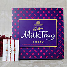Three set Cadbury Rakhi Hamper: Set of 3 Rakhi to UK
