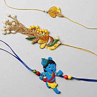 Vibrant And Festive Rakhi Set For Family: Rakhi for Kids to UK