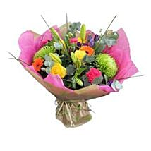 Vibrant Stylish Bouquet: Diwali Flowers to UK