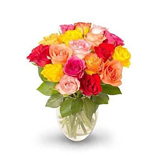 18 stem Mixed Intermediate Rose Bunch