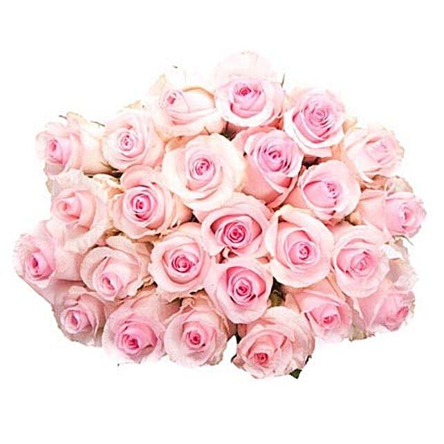 25 Long Stem Pink Roses