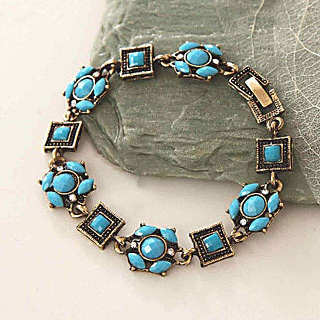 Blue Beads Antique Bracelet