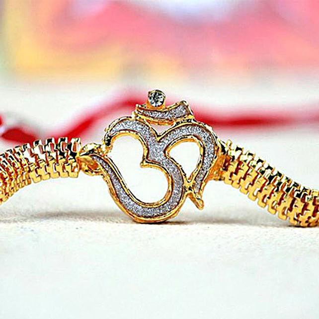Elegant Om Bracelet Rakhi