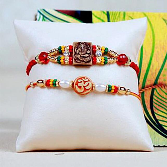 Ganesha OM Rakhi Set