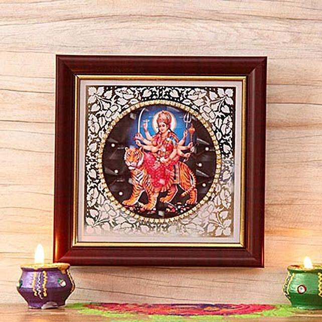 Goddess Durga Wooden Frame