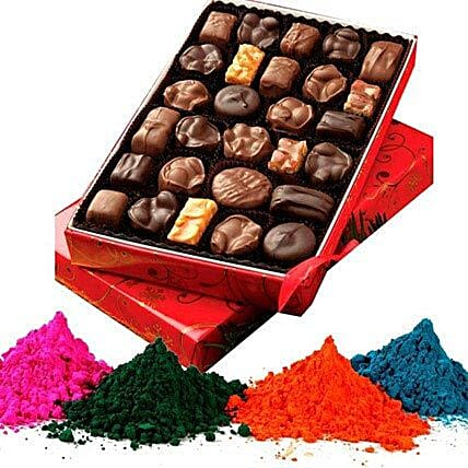 Holi Colors with Chocolate Hamper