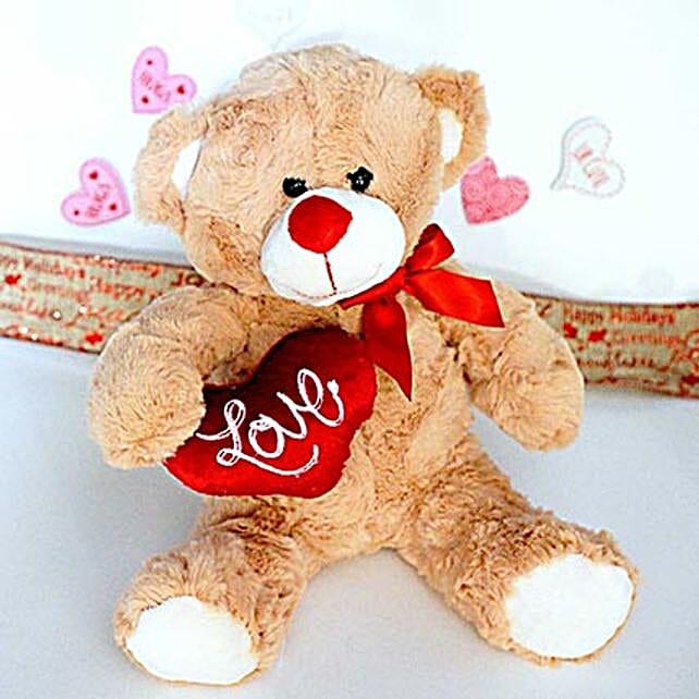 Love Message Brown Teddy