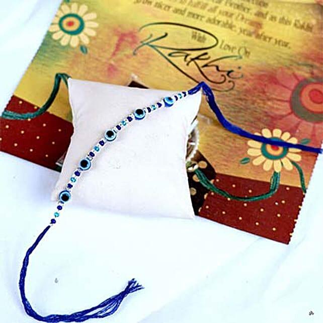 Multicoloured Stone N Beads Rakhi