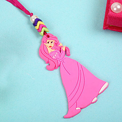 Pink Beauty Rakhi for Girls