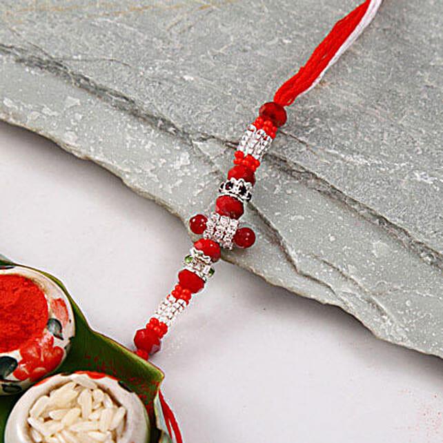 Red Bead Rakhi