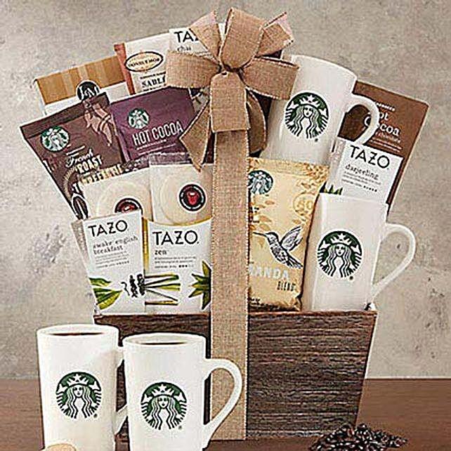 Starbucks Coffee and Tazo Tea Collection Gift Basket