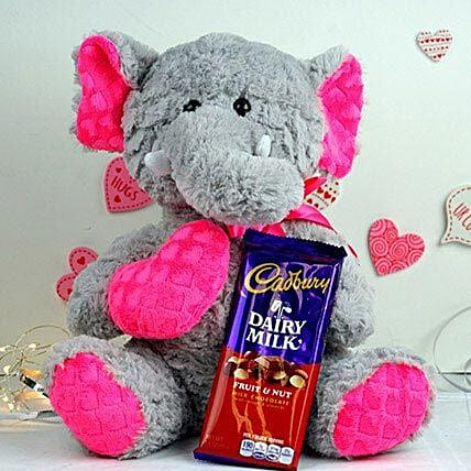 Stuffed Elephant N Cadbury Choco Combo