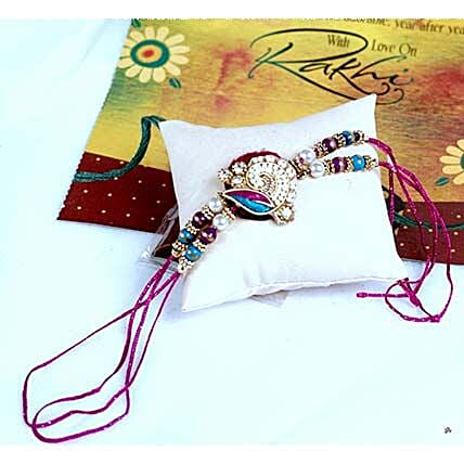 Vibrant Thread Rakhi For Bhaiya