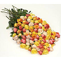 100 Long Stem Assorted Roses: Same Day Flowers to Columbus