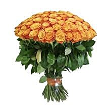 100 Long Stem Orange Roses: Same Day Flowers to Columbus