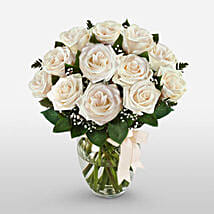 12 Long Stem White Roses: Valentine's Day Gifts to Columbus
