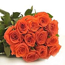 12 Orange Roses: Flower Bouquets for Birthday - USA