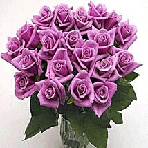 25 Long Stem Lavender Roses: Birthday Gifts indianapolis