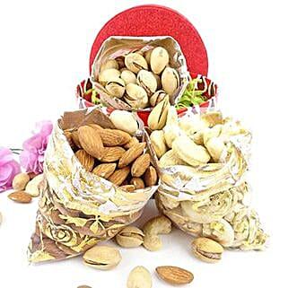 3 Dry Fruits Potli Combo: Send Dry Fruits to USA