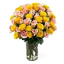 50 Long Stem Assorted Roses: Send Flowers to Columbus