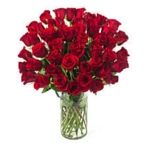 50 Long Stem Red Roses: Birthday Gifts Portland