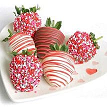 6 Choco Covered Strawberries: Birthday Gifts to New Jersey