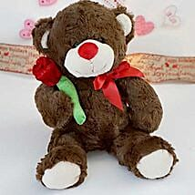 Accept my Rose Teddy Bear: Valentine's Day Gift Delivery in Columbus