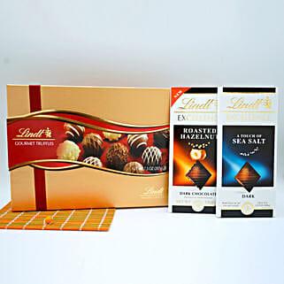 Assorted Lindt Chocolates Basket: Chocolates for Birthday