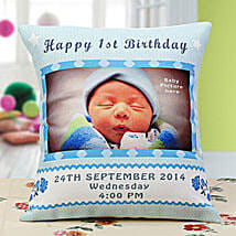 Baby Announcement Personalized Cushion: Send Personalised Gifts to USA
