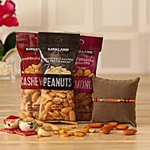 Beautiful Rakhi N Dry Fruits Combo: Rakhi With Dryfruits USA