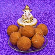 Besan Laddoo With Ganesha: Diwali Gift Delivery in USA