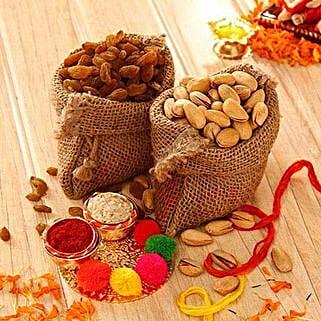 Bhai Dooj Colours N Dry Fruits: Send Bhai Dooj Gifts to USA