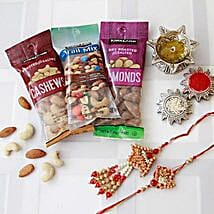 Bhaiya Bhaiya Rakhi with Dry Fruits: Rakhi to Madison