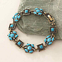Blue Beads Antique Bracelet: Send Gifts to Boston