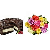 Chocolate Cheesecake and Colorful Roses: Cakes to California