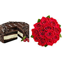 Chocolate Cheesecake and Roses: Send Birthday Gifts to Indianapolis