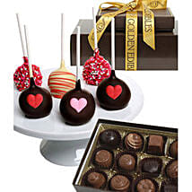 Chocolate Covered Cake Pops N Truffles: Valentine's Day Gift Delivery in Madison